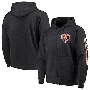 Men's G-III Sports by Carl Banks Charcoal Chicago Bears Post Route Full-Zip Hoodie