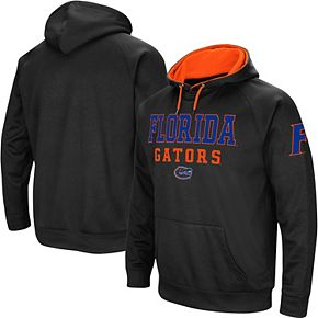 Men's Colosseum Black Florida Gators Performance Pullover Hoodie