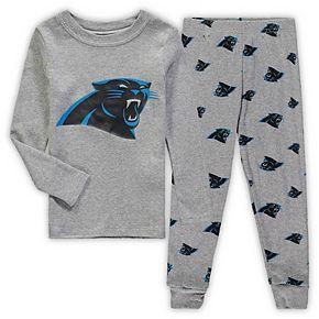 Toddler Heathered Gray Carolina Panthers Sleep Set