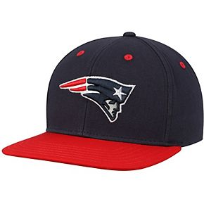 Youth Navy/Red New England Patriots Two-Tone Flatbrim Snapback Adjustable Hat