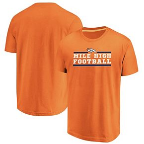Men's Majestic Orange Denver Broncos Big & Tall Safety Blitz T-Shirt