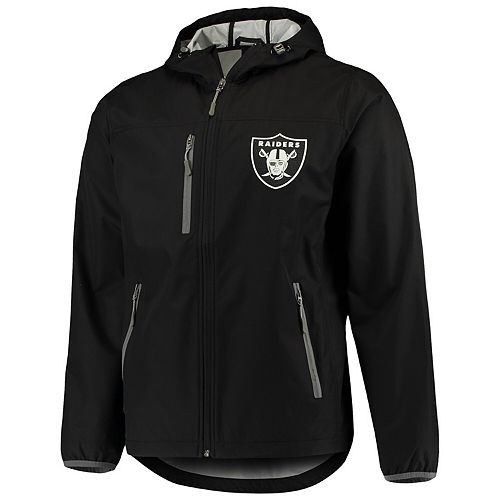 Men's G-III Sports by Carl Banks Black Oakland Raiders Trick Play Full-Zip Hooded Jacket
