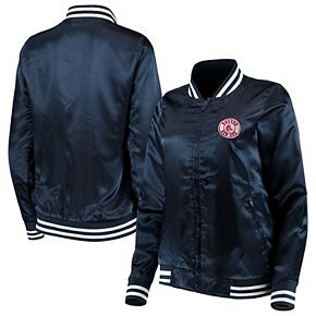 Women's Antigua Navy Boston Red Sox Strut Full-Zip Bomber Jacket