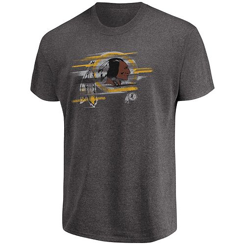 Men's Majestic Heathered Charcoal Washington Redskins Fierce Intensity T-Shirt