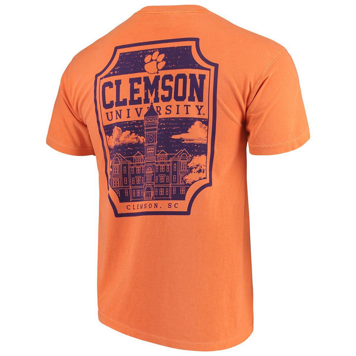 Men's Orange Clemson Tigers Comfort Colors Campus Icon T-Shirt 1OiKw