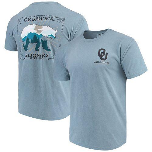 Men's Blue Oklahoma Sooners State Scenery Comfort Colors T-Shirt
