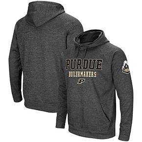Men's Colosseum Charcoal Purdue Boilermakers Performance Pullover Hoodie