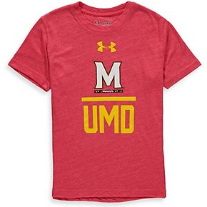 Youth Under Armour Red Maryland Terrapins Tri-Blend T-Shirt