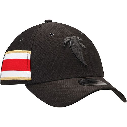 Men's New Era Black Atlanta Falcons Historic Logo Kickoff Reverse 39THIRTY Flex Hat