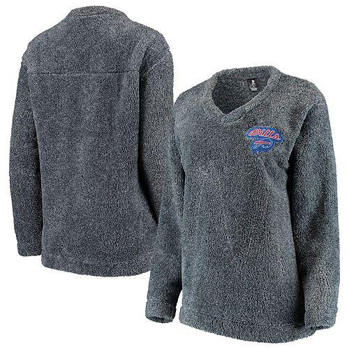 Women's Concepts Sport Charcoal Buffalo Bills Trifecta Pullover Sweatshirt