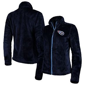 Women's G-III 4Her by Carl Banks Navy Tennessee Titans Goal Line Full-Zip Jacket