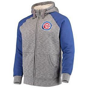 Men's G-III Sports by Carl Banks Gray Chicago Cubs Turning Point Transitional Full-Zip Jacket