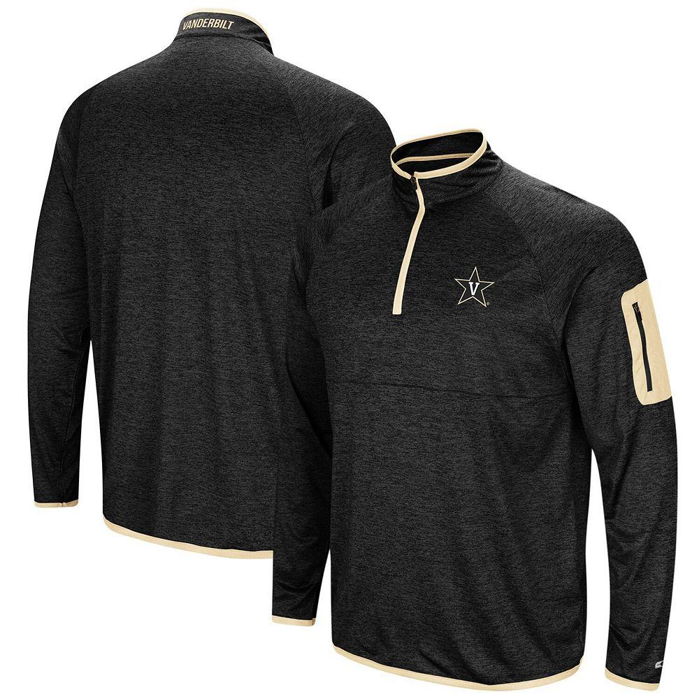 Men's Colosseum Black Vanderbilt Commodores Amnesia Quarter-Zip Pullover Jacket