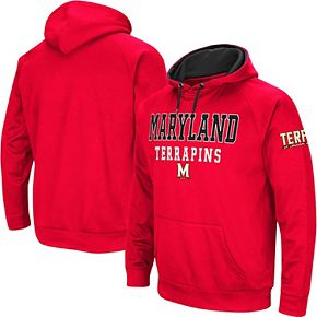 Men's Colosseum Red Maryland Terrapins Performance Pullover Hoodie