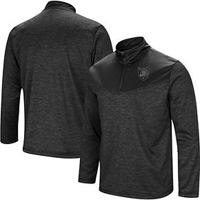 Men's Colosseum Heathered Black Army Black Knights Blackout Quarter-Zip Pullover Jacket