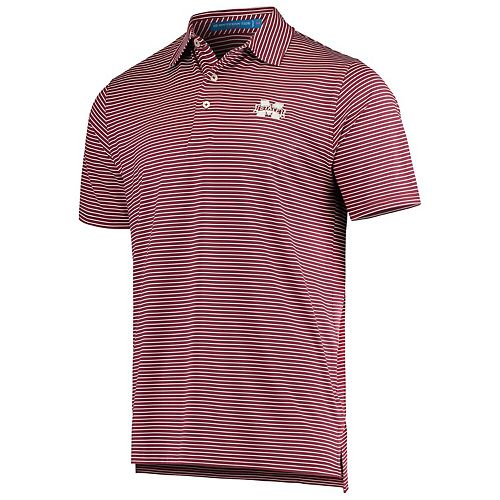 Men's Maroon Mississippi State Bulldogs Southern Tide Game Day Stripe Polo