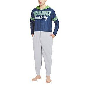 Men's Concepts Sport College Navy Seattle Seahawks Warm Up Union Bodysuit