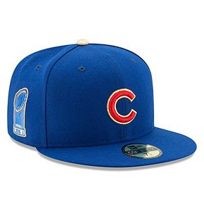 Men's New Era Royal Chicago Cubs 2017 Gold Program World Series Champions Commemorative 59FIFTY Fitted Hat