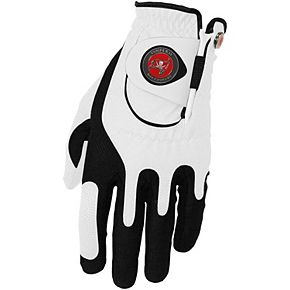 Men's White Tampa Bay Buccaneers Left Hand Golf Glove & Ball Marker Set
