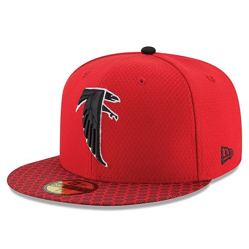 Men's New Era Red Atlanta Falcons 2017 Sideline Historic 59FIFTY Fitted Hat