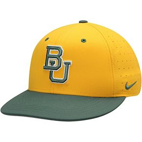 Men's Nike Gold Baylor Bears Aerobill Performance True Fitted Hat