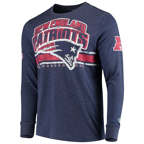 Men's G-III Extreme Navy New England Patriots Extreme Jump Shot Long Sleeve T-Shirt