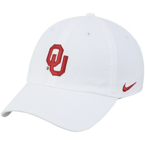 Men's Nike White Oklahoma Sooners Heritage 86 Logo Performance Adjustable Hat