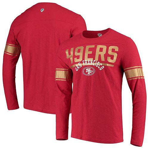 Men's Hands High Scarlet San Francisco 49ers Champion Slub Long Sleeve T-Shirt