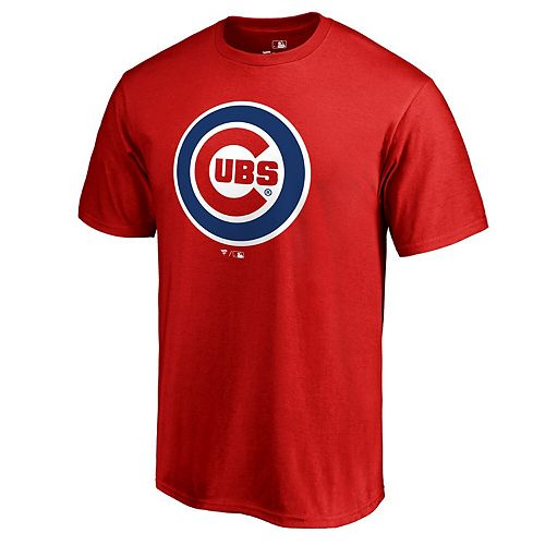 Men's Fanatics Branded Red Chicago Cubs Big & Tall Team Wordmark T-Shirt