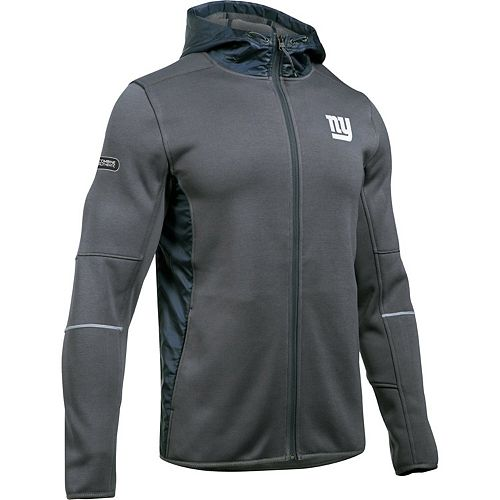 Men's Under Armour Charcoal New York Giants Combine Authentic Swacket Performance Full-Zip Jacket