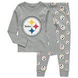Toddler Heathered Gray Pittsburgh Steelers Sleep Set