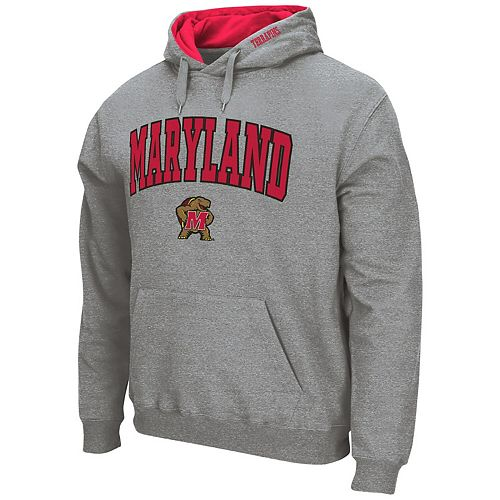 Men's Colosseum Heathered Gray Maryland Terrapins Arch & Logo Pullover Hoodie