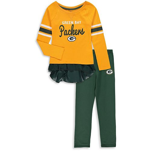 Girls Preschool Gold/Green Green Bay Packers Mini Formation Set