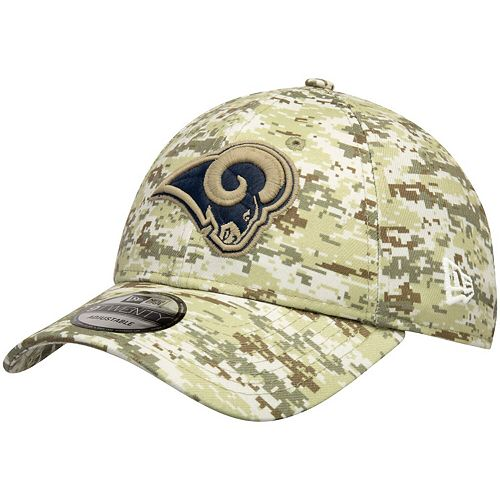 Men's New Era Camo Los Angeles Rams Digi 9TWENTY Adjustable Hat