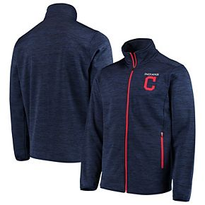 Men's G-III Sports by Carl Banks Navy Cleveland Indians High Jump Transitional Full-Zip Jacket