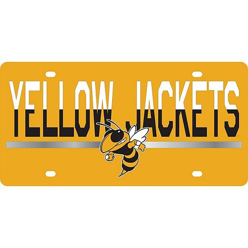 Georgia Tech Yellow Jackets DuoTone Color Acrylic License Plate