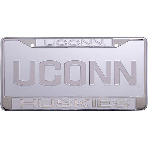 UConn Huskies Frost License Plate and Frame Set