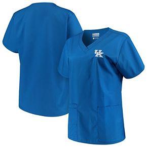 Women's Royal Kentucky Wildcats V-Neck Scrub Top