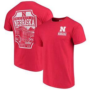 Men's Scarlet Nebraska Cornhuskers Comfort Colors Campus Icon T-Shirt