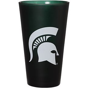 Michigan State Spartans 16 oz. Team Color Frosted Pint Glass