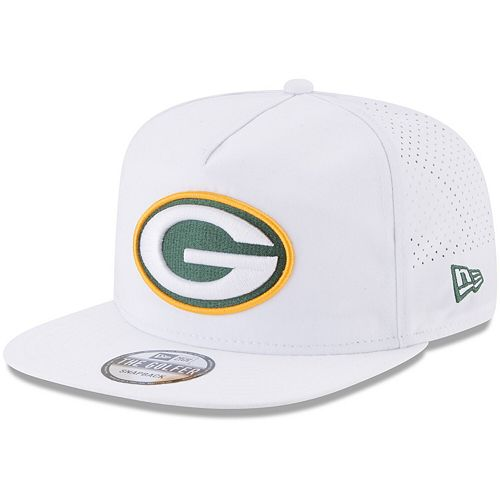 Men's New Era White Green Bay Packers 2017 Training Camp Official A-Frame Golfer Hat