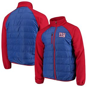 Men's G-III Sports by Carl Banks Royal/Red New York Giants Reinforcer Full-Zip Jacket