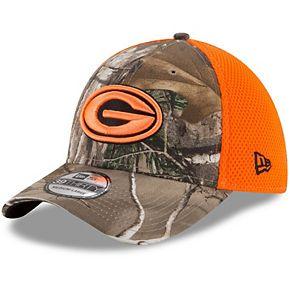 Men's New Era Realtree Camo/Orange Green Bay Packers Blaze Neo 39THIRTY Flex Hat