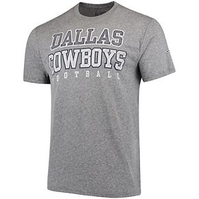 Men's Heathered Gray Dallas Cowboys Worn Practice Tri-Blend T-Shirt