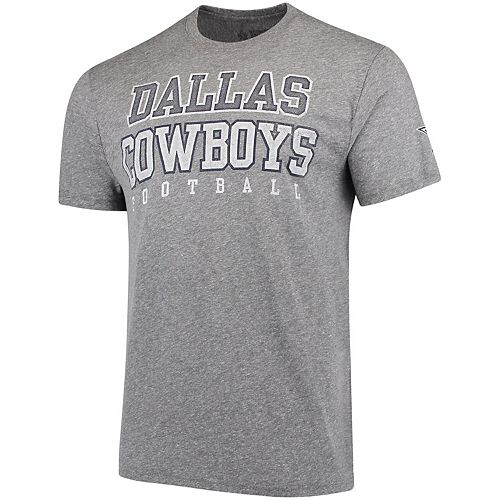Men's Heathered Gray Dallas Cowboys Worn Practice Tri-Blend T-Shirt