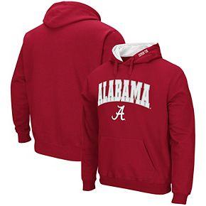 Men's Colosseum Crimson Alabama Crimson Tide Arch & Logo Pullover Hoodie