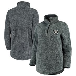 Women's Concepts Sport Charcoal Oakland Raiders Trifecta Snap-Up Jacket