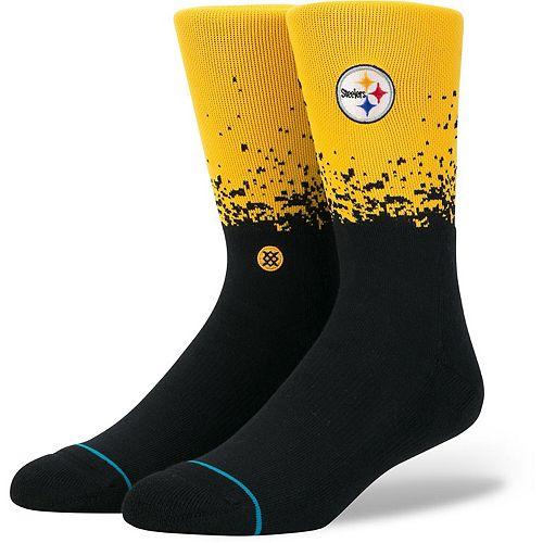 Men's Stance Pittsburgh Steelers Fade 2 Crew Socks