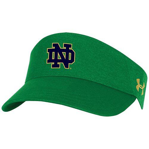 Men's Under Armour Kelly Green Notre Dame Fighting Irish Renegade Closer Script Visor