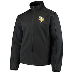 Men's G-III Sports by Carl Banks Black Minnesota Vikings QR Audible Full-Zip Fleece Jacket